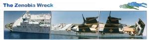 Larnaka artificial reef the Zenovia ship before sinking